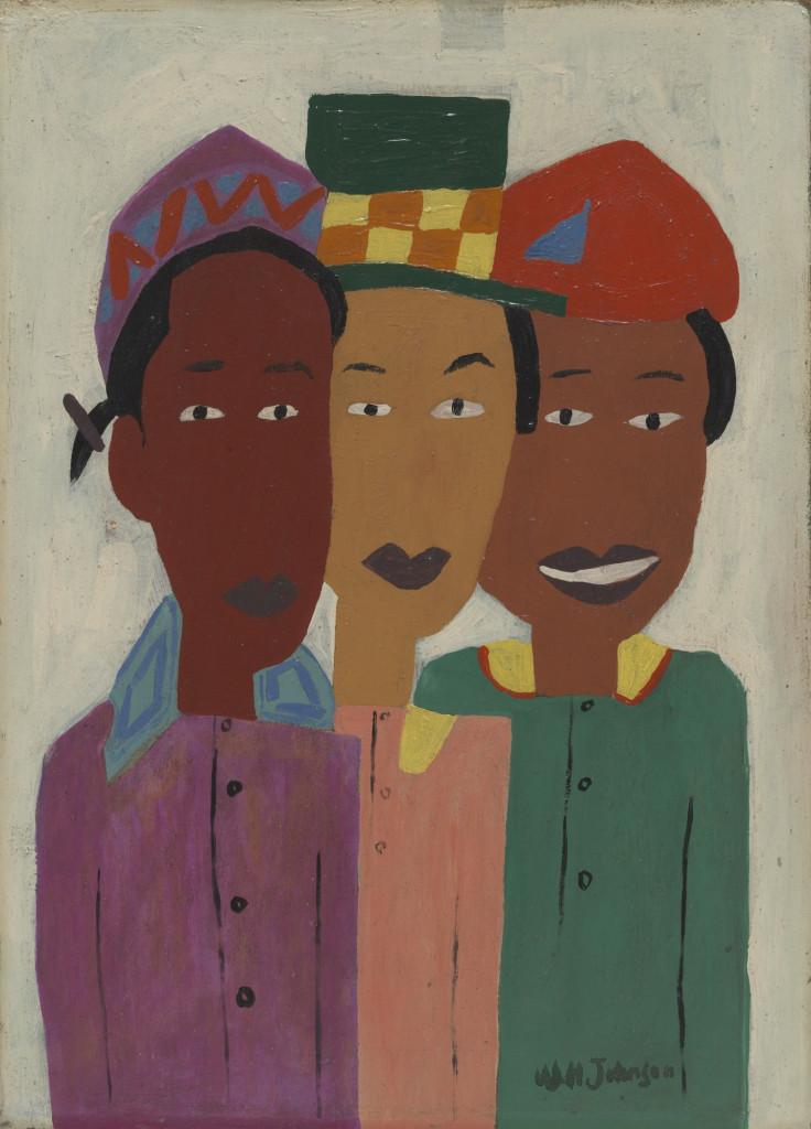William H. Johnson, «Three Friends», 1944 ca.