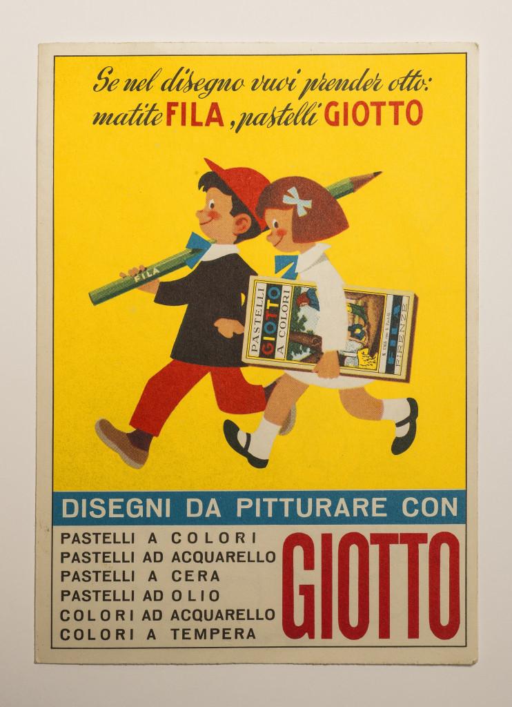 Storica «vignetta» su un volantino pubblicitario della FILA, 1956