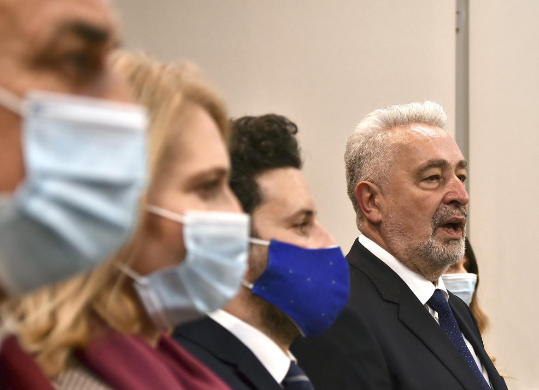 Zdravko Krivokapic ieri in parlamento