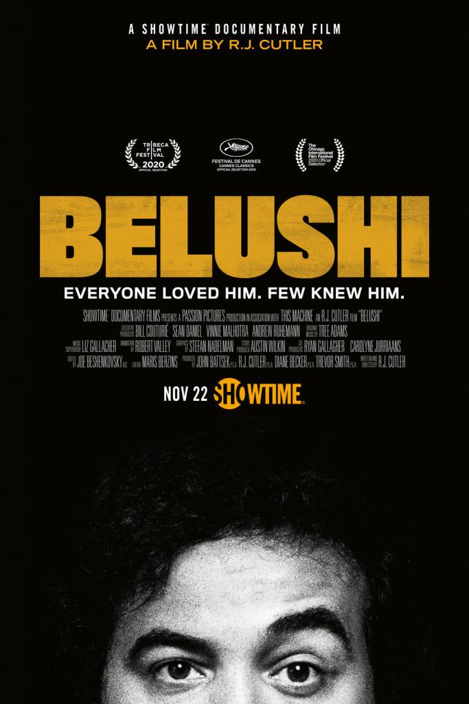 La locandina di «Belushi», il documentario di  R. J. Cutler