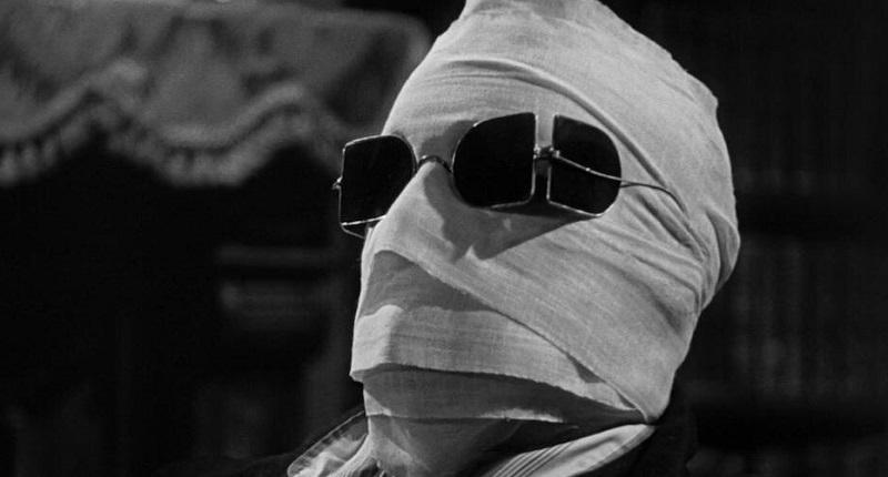 Claude Rains in L'uomo invisibile, 1933