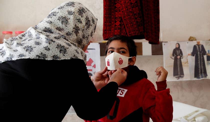 Mascherine anti-Covid a Gaza