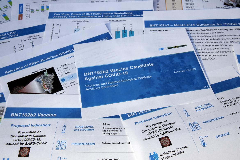 I documenti forniti dalla Pfizer all'agenzia Usa Fda