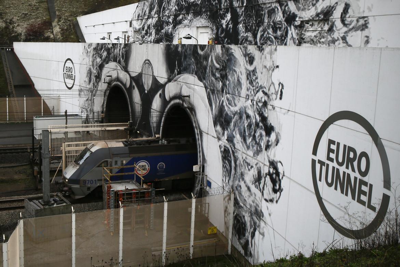 Il terminal francese di Coquelles dell'Eurotunnel