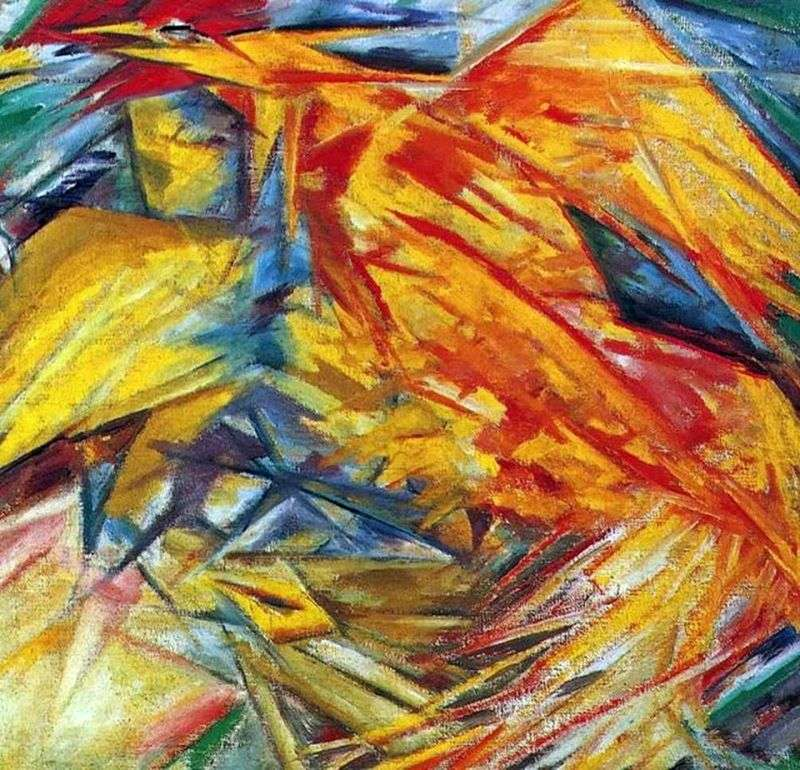 Mikhail Larionov, «Gallo e pollo», 1912