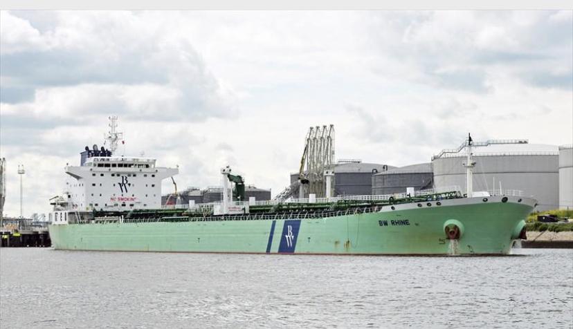 La petroliera Bw Rhine