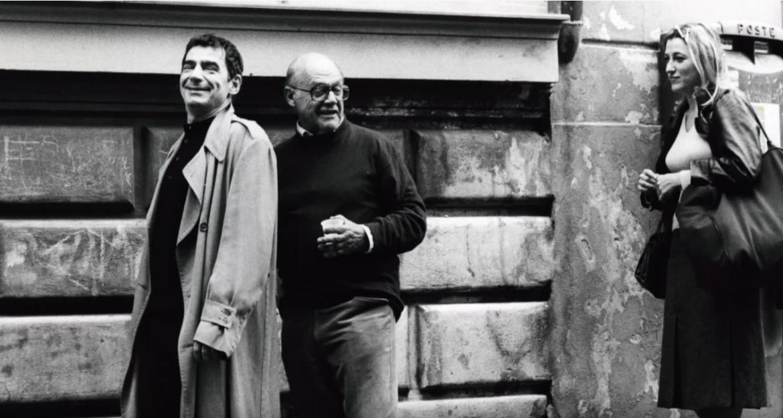 Franco Giraldi al centro, tra Predrag 'Miki' Manojlovic e Valeria Bruni Tedeschi