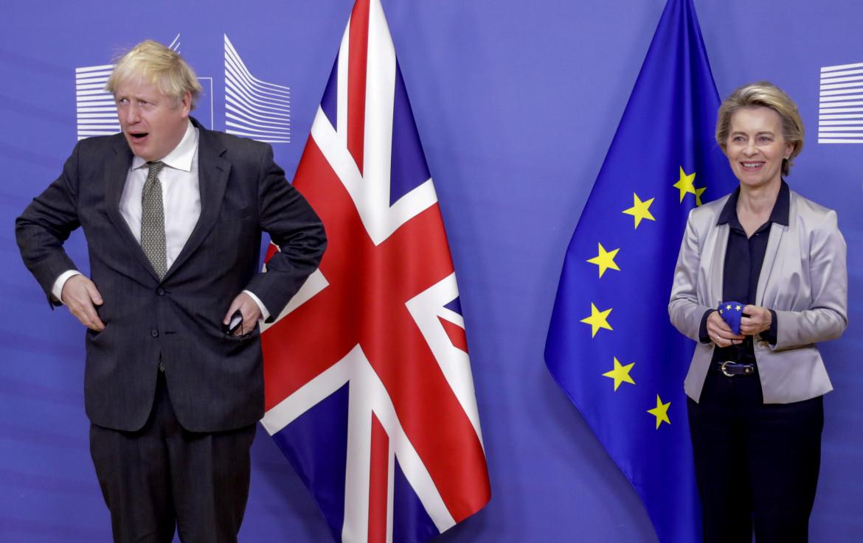L'incontro a Bruxelles tra Boris Johnson e Ursula von der Leyen