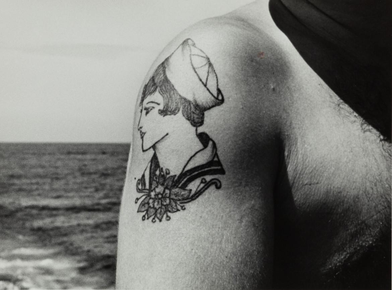 John Gutmann, Sailor Girl Tattoo, 1945
