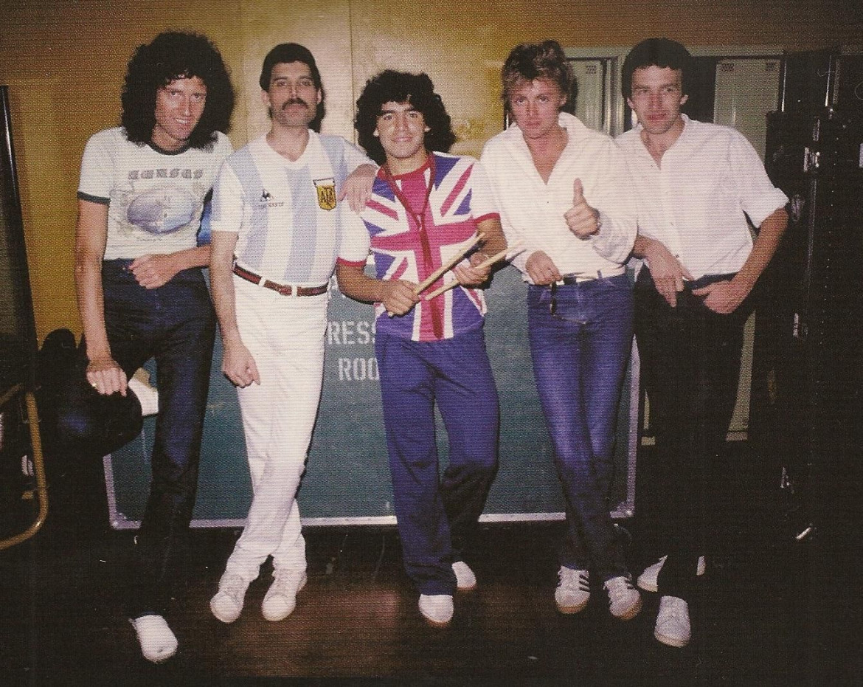 Maradona con i Queen
