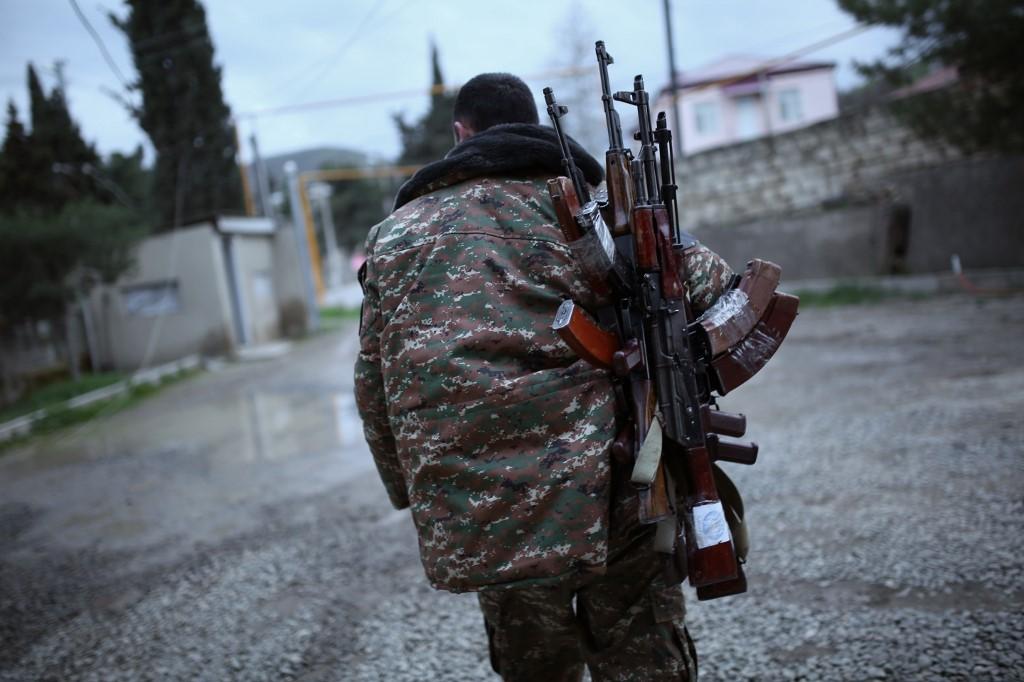 Una foto scattata nel Nagorno-Karabakh a novembre 2020