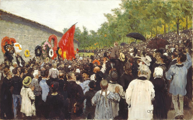 Un quadro di Ilya Repine (1844-1930), Meeting annuel au Mur des Fédérés en 1883