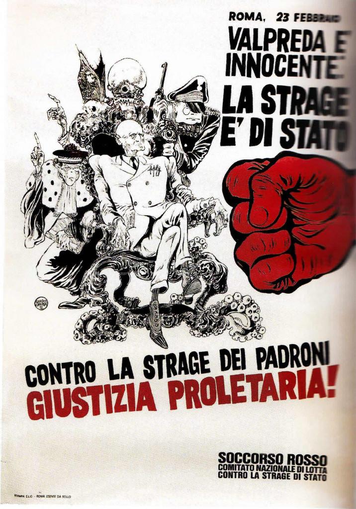 Guido Crepax, «Manifesto Soccorso Rosso» (dettaglio)