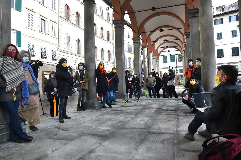 Insegnanti di Priorità alla scuola ieri in piazza a Firenze
