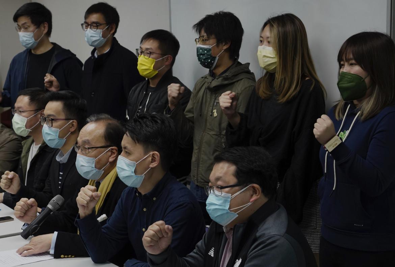 La conferenza stampa dopo gli arresti di ieri degli attivisti democratici