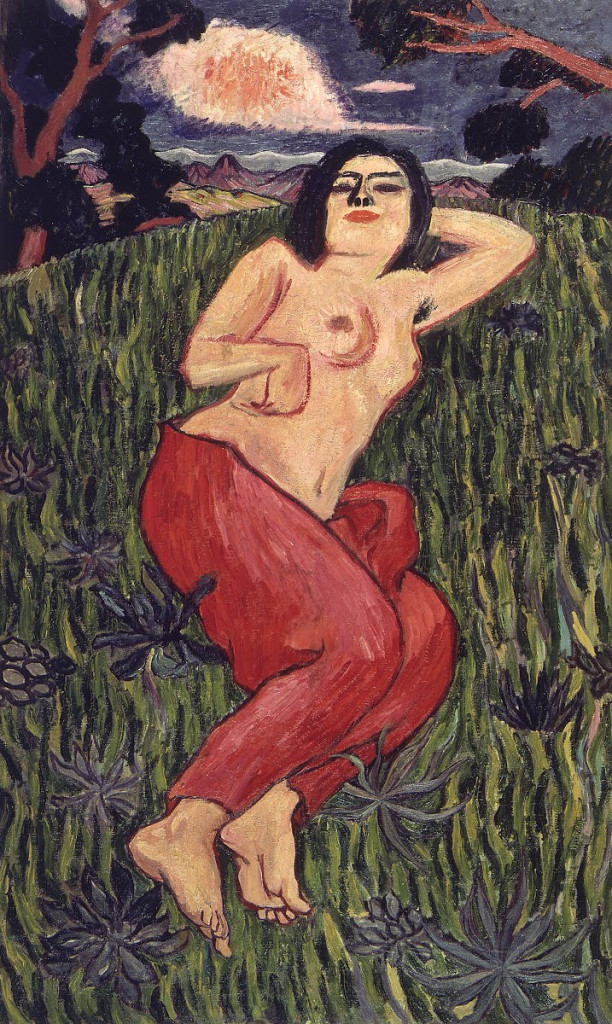 Tetsugoro Yorozu, Nude Beauty, 1912, Tokyo, The National Museum of Modern Art