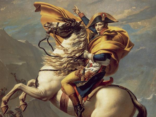Jacques-Louis David, «Napoleone che valica le Alpi», 1801