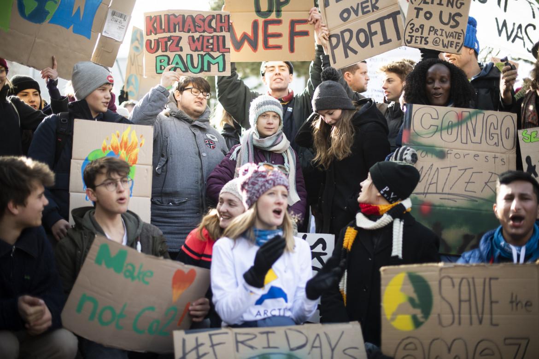 Le proteste a Davos in Svizzera al World Economic Forum