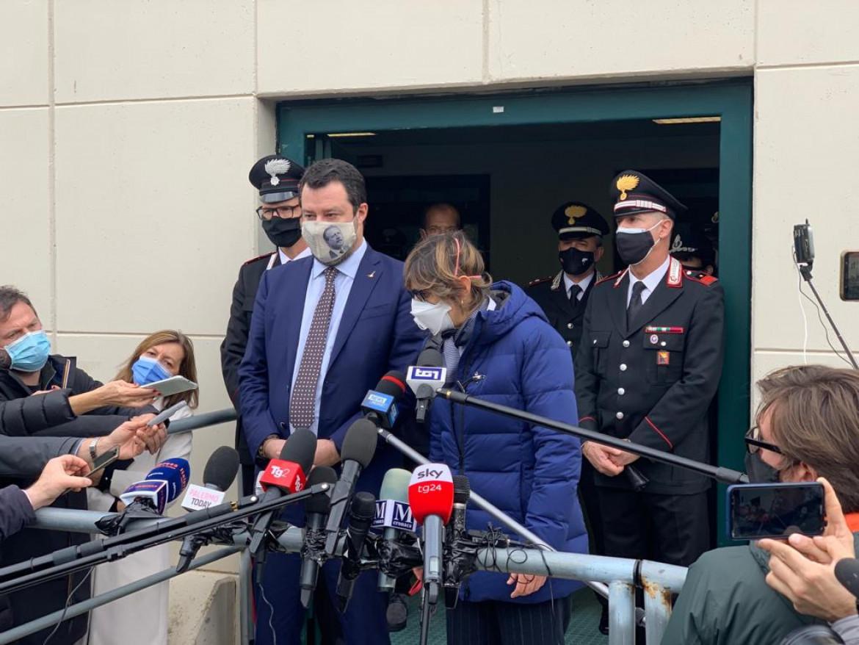 Matteo Salvini e Giulia Bongiorno