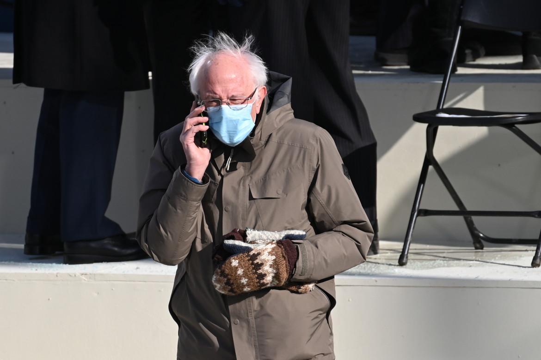 Bernie Sanders durante l'inaugurazione di Biden