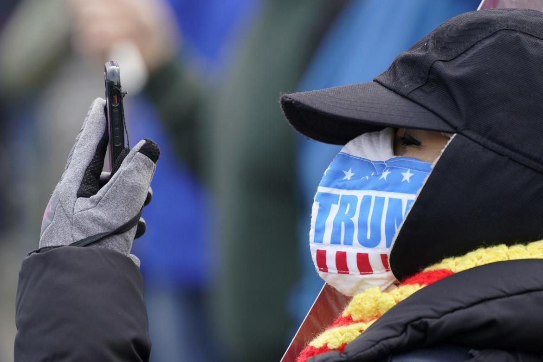 Un supporter di Trump