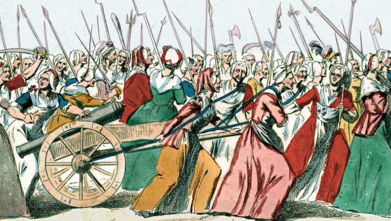 «Français: A Versailles, à Versailles. 5 Octobre 1789». Autore sconosciuto, fonte Bibliothèque nationale de France