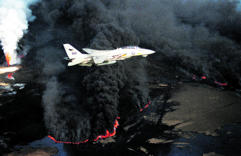 Cacciabombardieri Fighter Squadron 114 (VF-114) F-14A Tomcat, dopo i raid sui pozzi di petrolio