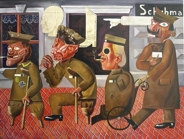 Otto Dix, Reduci di guerra, 1920