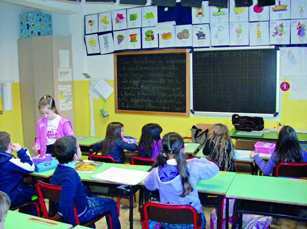 In una classe della scuola primaria