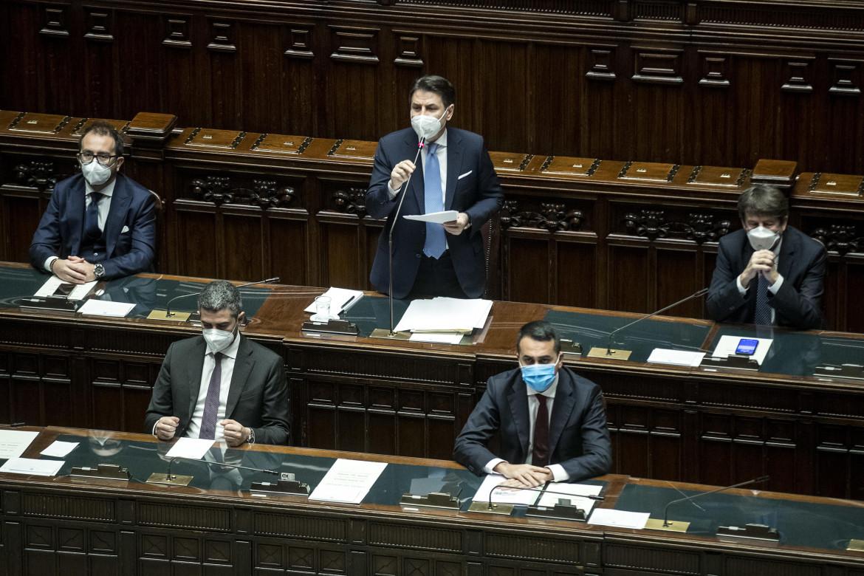 L'intervento di Giuseppe Conte nell'aula di Montecitorio