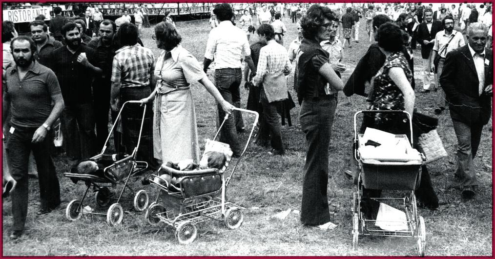 Festa dell'Unità in Emilia negli anni Settanta