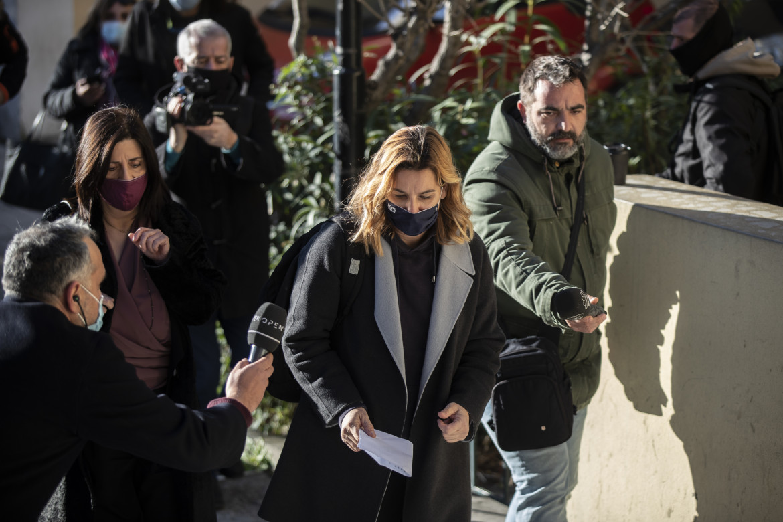 Atene, Sofia Bekatorou dopo aver deposto in Procura