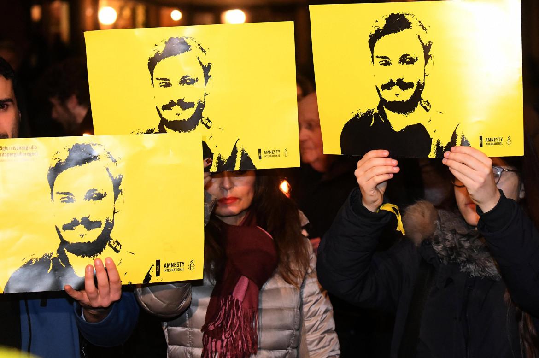 Un'iniziativa per Giulio Regeni organizzata da Amnesty Italia a Prato, nel 2017
