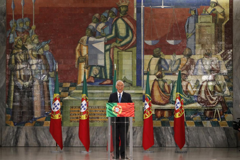 Il presidente uscente, il conservatore Marcelo Rebelo de Sousa, riconfermato al primo turno