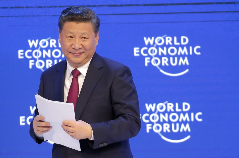 Xi Jinping a Davos nel 2017