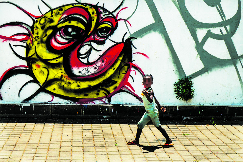 Johannesburg, graffito a Soweto, Sudafrica