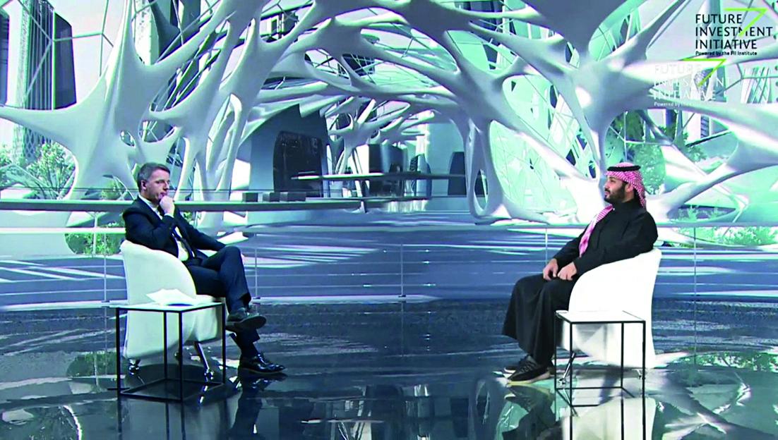 Matteo Renzi e Bin Salaman