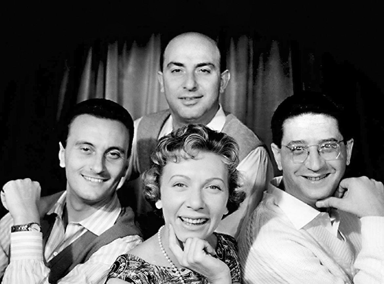 Il Quartetto Cetra, foto di copertina del box dedicato agli anni Fonit dal 1941 al 1958