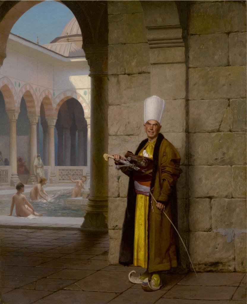 Jean Léon Gérôme,  Il grande eunuco bianco, 1880 ca., collezione privata