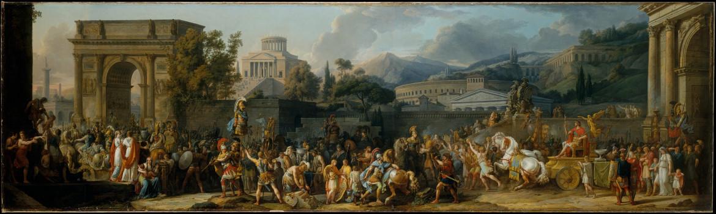 Carle Vernet, Il trionfo  di Emilio Paolo, 1789, New York, Metropolitan Museum of Art