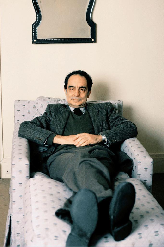 Lo scrittore Italo Calvino