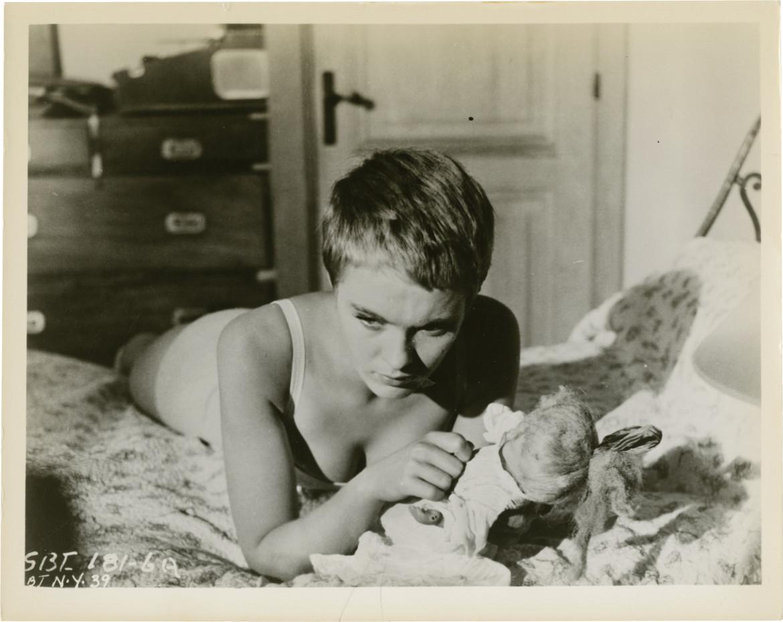 Jean Seberg in Bonjour Tristesse  di Otto Preminger, 1958, il film tratto dal bestseller di Françoise Sagan