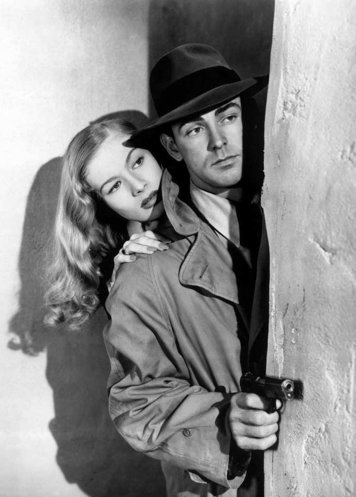 Veronica Lake e Alan Ladd nel thriller di Frank Tuttle This Gun for Hire (Il fuorilegge), 1942, tratto  da Una pistola in vendita  di Graham Greene