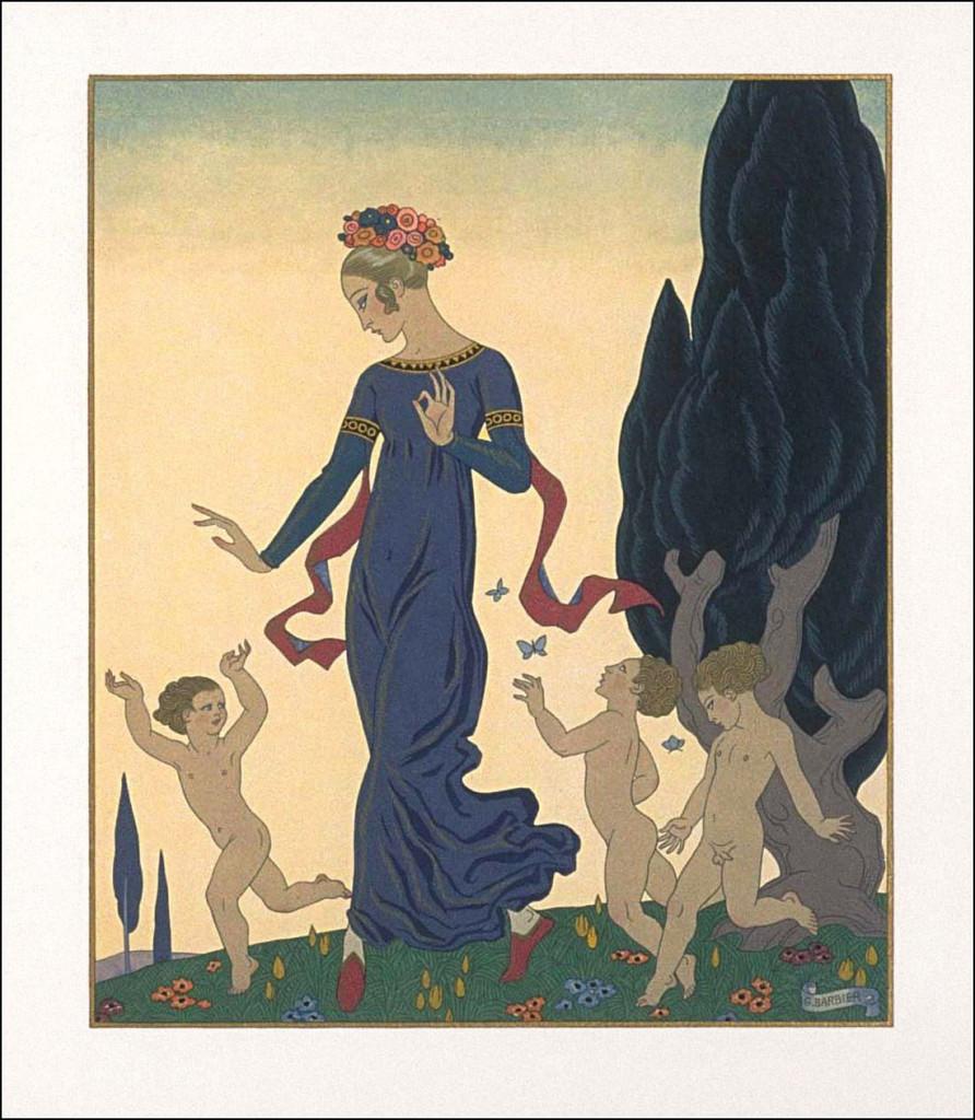 Incisione di George Barbier, 1929, per le Vies imaginaires  di Marcel Schwob