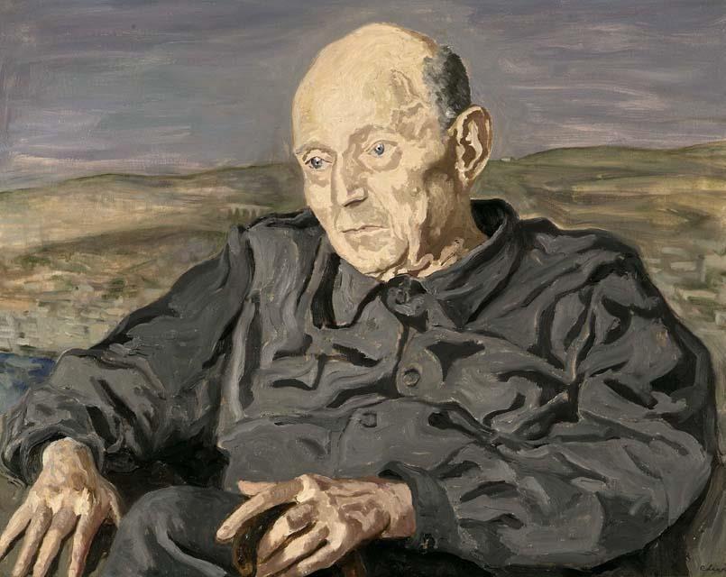 Umberto Saba ritratto da Carlo Levi fra il 1950 e il 1953, Trieste, Sistema Museale dell'Ateneo