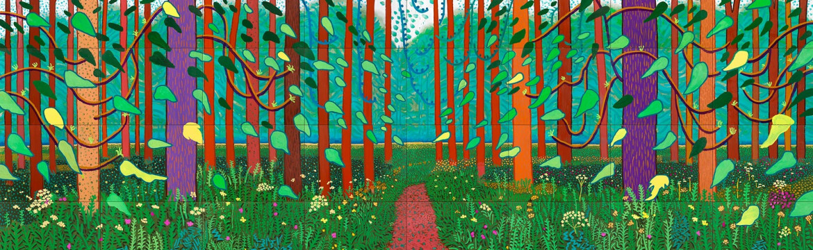 «The arrival of Spring in Wolgate, Eat Yorkshire» (Centre Pompidou), David Hockney