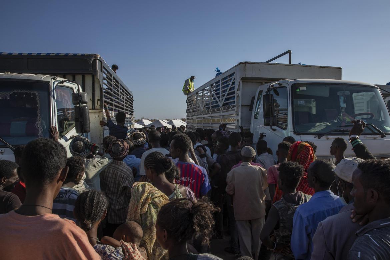Profughi del Tigray nella regione sudanese di Qadarif