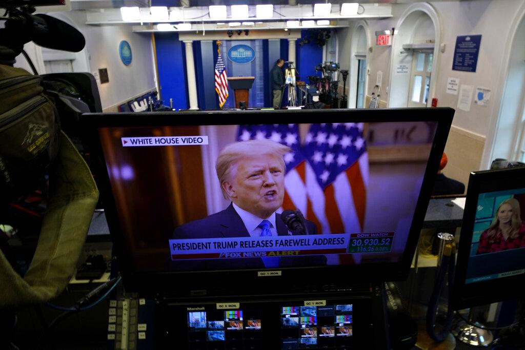 The Donald su uno schermo