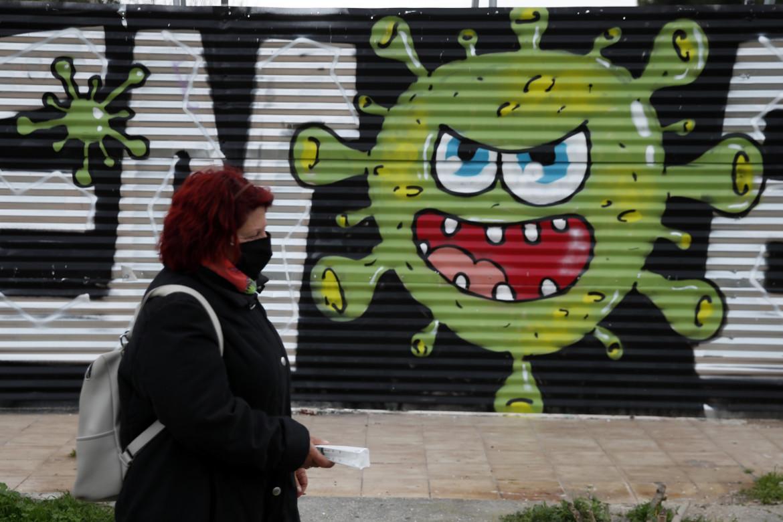Graffito a tema coronavirus
