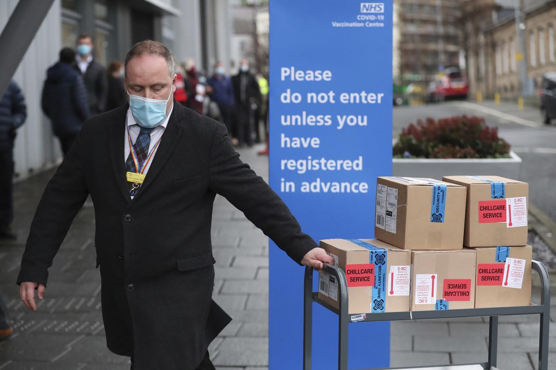 Stock di vaccini AstraZeneca distribuiti in Gran Bretagna